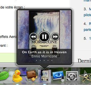 Capture d'écran - HyperDock et iTunes
