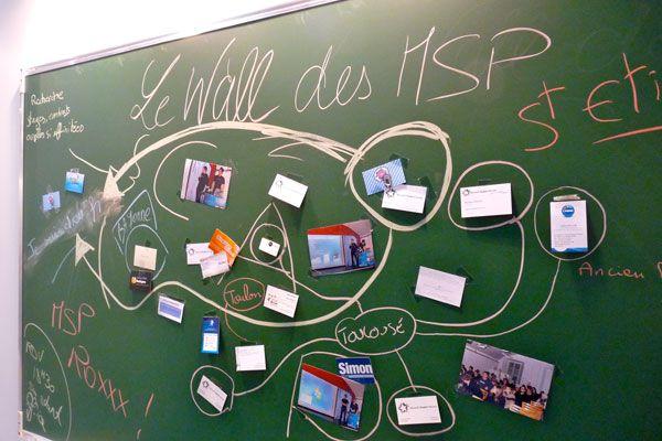 Capture d'écran - Le Wall des MSP (Microsoft Student Partners)