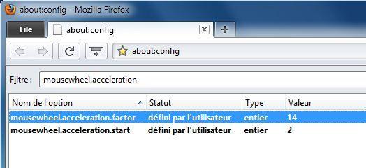 Capture d'écran - Mozilla Firefox, onglet about:config