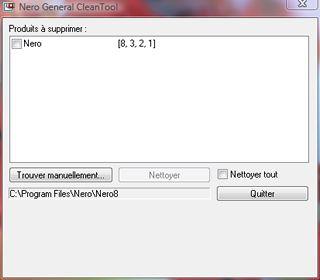 Capture d'écran - Nero General Clean Tool