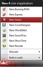 Capture d'écran - Nero, menu StartSmart