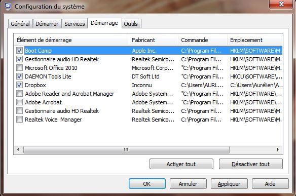 Capture d'écran - Désactivation du Centre de téléchargement Office