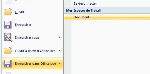 Capture d'écran - Office 2007, module d'enregistrement Live