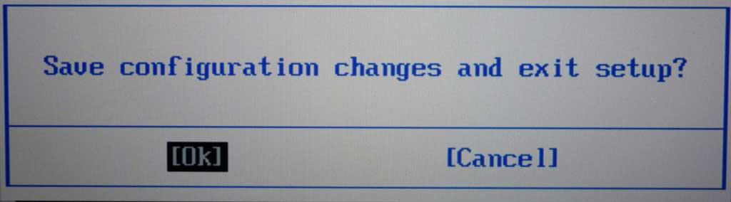 Sauvegarde des changements (Asus G2S, version 300)