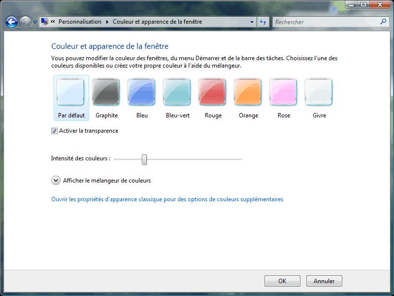 Transparence des fenêtres