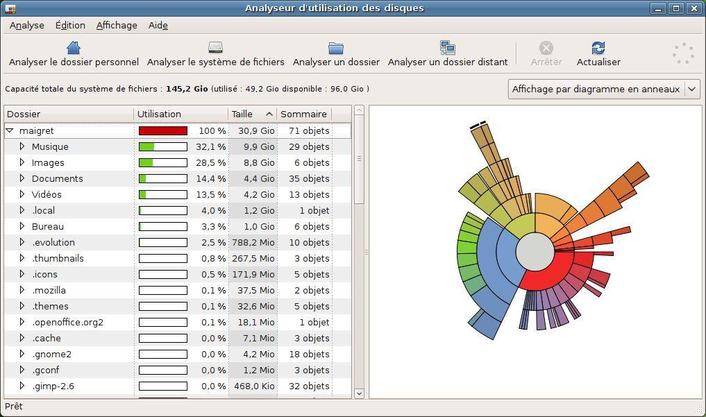Capture d'écran - Processus d'analyse du dossier utilisateur