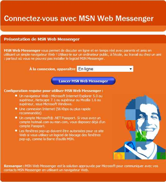 Capture d'écran - Web Messenger