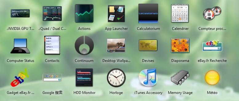 Widgets Vista