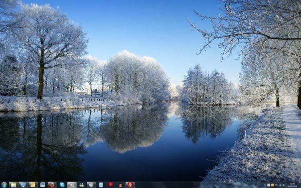 Capture d'écran - Thème Winter pour Windows 7