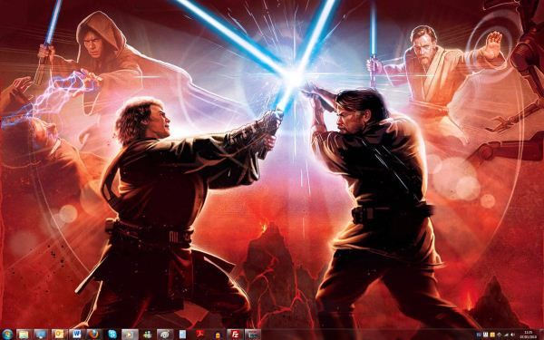 Capture d'écran - Thème StarWars pour Windows 7