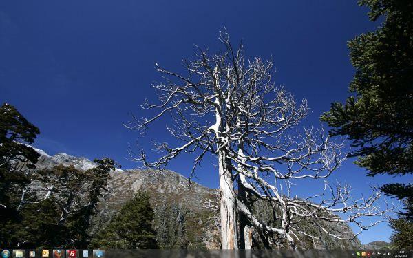 Capture d'écran - Thème Syue Mountain pour Windows 7