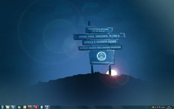 Capture d'écran - Thème Summit on the Summit pour Windows 7