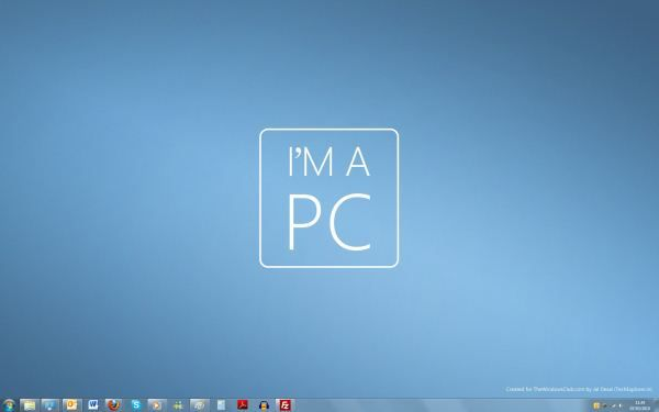 Capture d'écran - Thème I'm a PC pour Windows 7