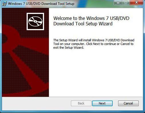 Capture d'écran - Assistant d'installation de l'utilitaire USB pour Windows 7