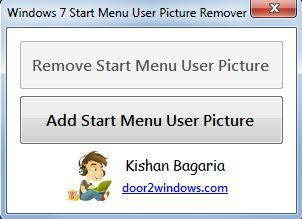 Capture d'écran - Windows 7 Start Menu User Picture Remover