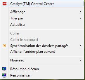 Capture d'écran - Accès à Catalyst Control Center