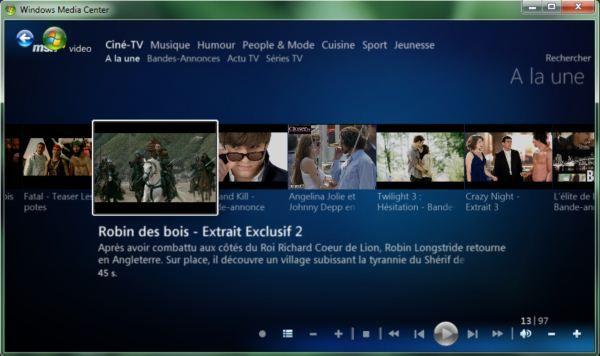 Capture d'écran - Module TV en différé