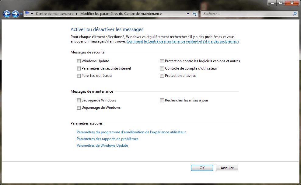 Activer d sactiver les messages d 39 erreurs sous windows 7 - Activer office par telephone ...