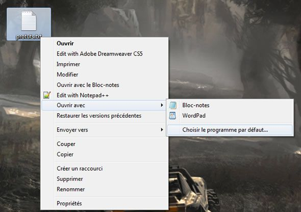 Nettoyer le menu ouvrir avec sous windows 7 vista for Ouvrir fenetre plein ecran windows 7