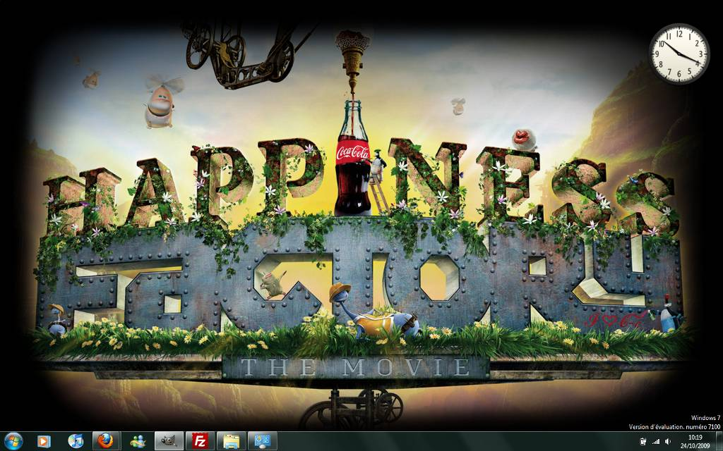 Capture décran - Thème Happiness Factory pour Windows 7