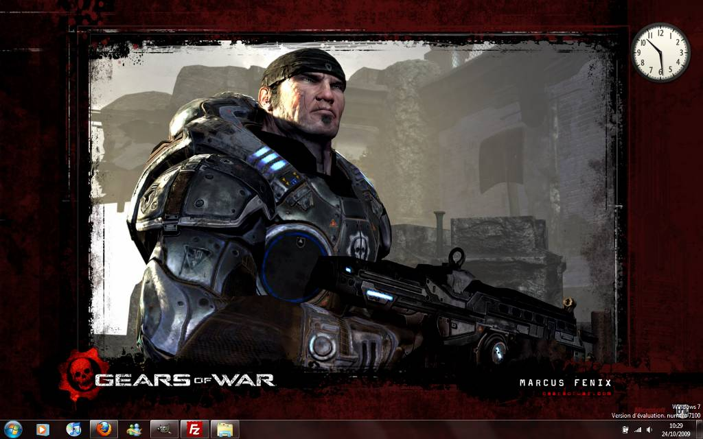 Capture décran - Thème Gears of War pour Windows 7