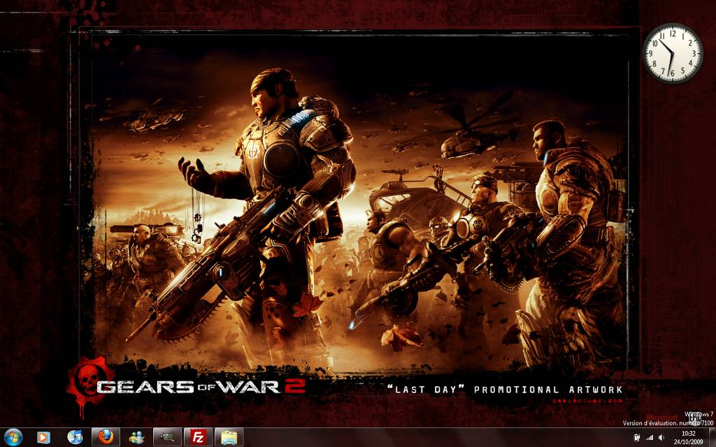 Capture décran - Thème Gears of War 2 pour Windows 7