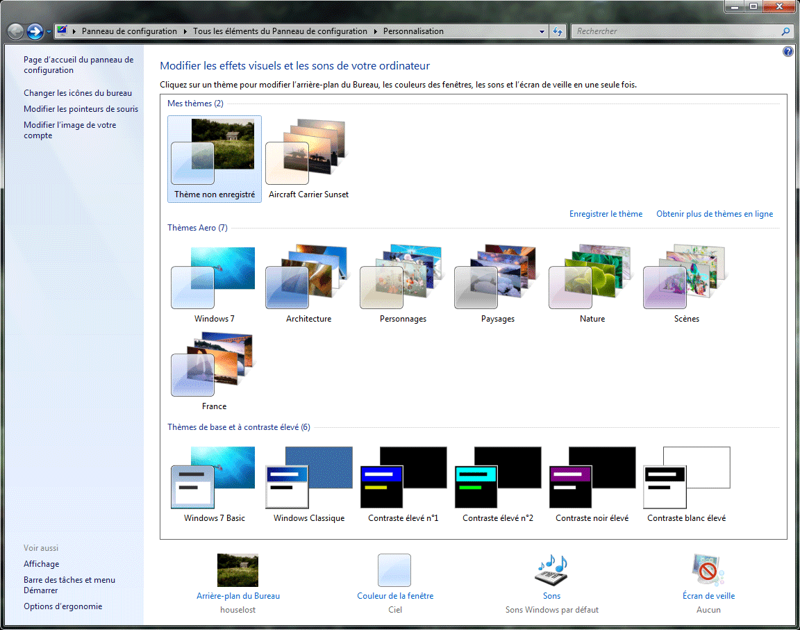 Personnaliser windows seven de a z avec les th mes for Ouvrir fenetre plein ecran windows 7