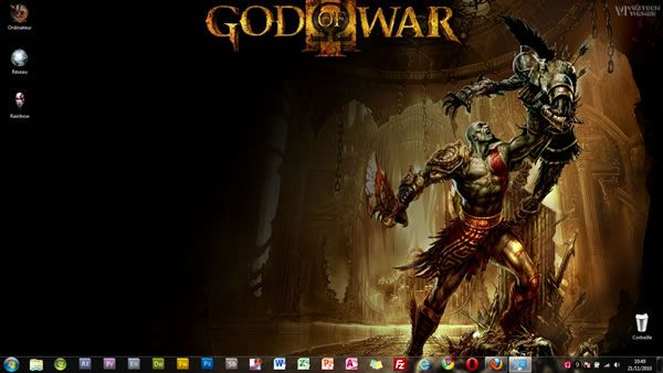 Capture d'écran - Thème visuel God of War III pour Windows 7