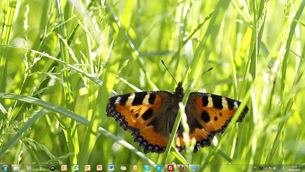 Capture d'écran - Latvian Nature thème Windows 7 officiel