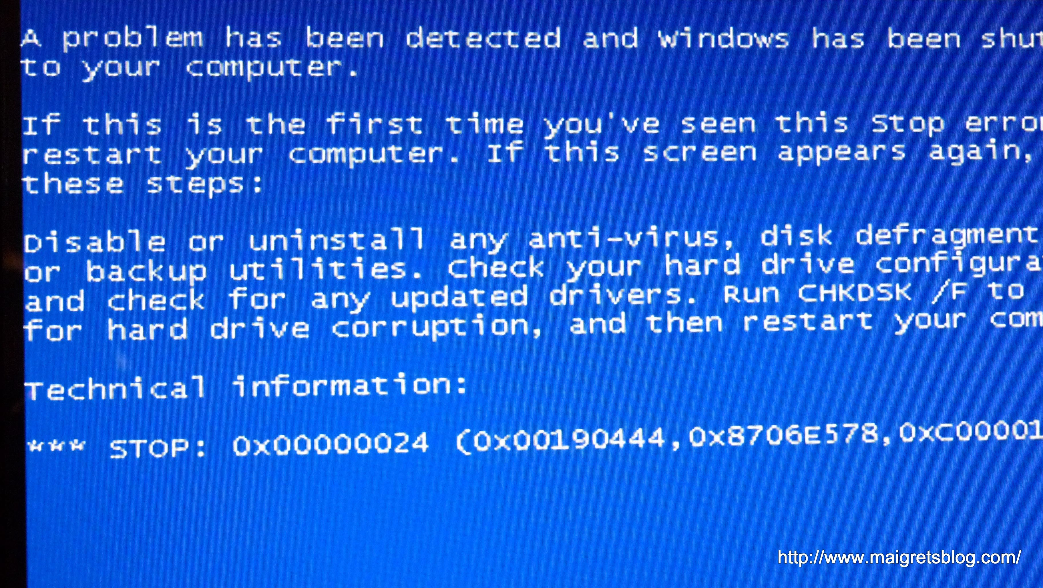 Photographie - Blue Screen of the Death