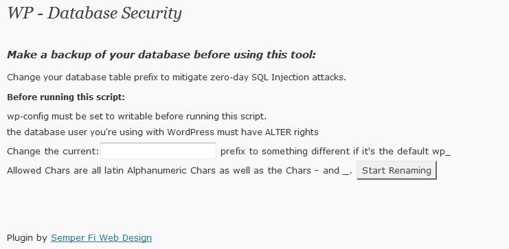 Sécuriser la base de données WordPress